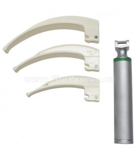 ECO COLD LIGHT LARYNGOSCOPE SET - 4 PART